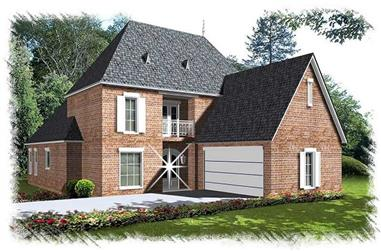 4-Bedroom, 2751 Sq Ft French Home Plan - 113-1086 - Main Exterior
