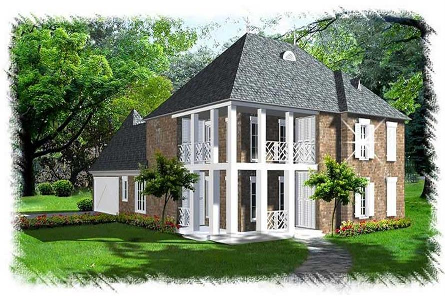 4-Bedroom, 3000 Sq Ft French Home Plan - 113-1088 - Main Exterior
