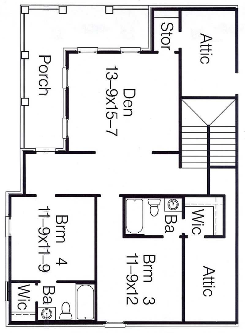 French Traditional Home With 4 Bedrms 3000 Sq Ft Plan