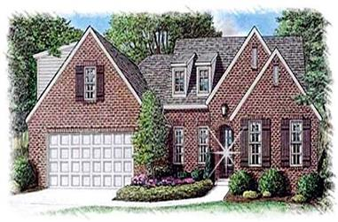 4-Bedroom, 3240 Sq Ft French Home Plan - 113-1089 - Main Exterior