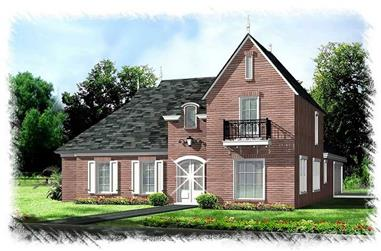 4-Bedroom, 2571 Sq Ft Home Plan - 113-1090 - Main Exterior