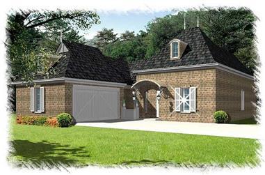 3-Bedroom, 2346 Sq Ft Home Plan - 113-1091 - Main Exterior