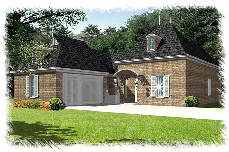 3-Bedroom, 2346 Sq Ft Home Plan - 113-1091 - Main Exterior