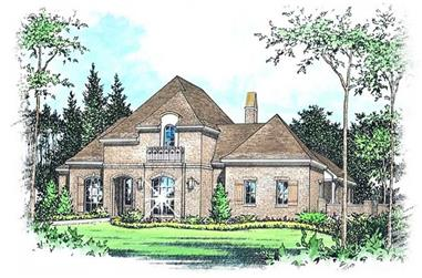 4-Bedroom, 3506 Sq Ft French Home Plan - 113-1092 - Main Exterior