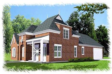 3-Bedroom, 2471 Sq Ft Home Plan - 113-1093 - Main Exterior