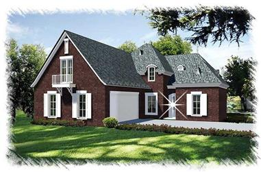 4-Bedroom, 2624 Sq Ft French Home Plan - 113-1094 - Main Exterior