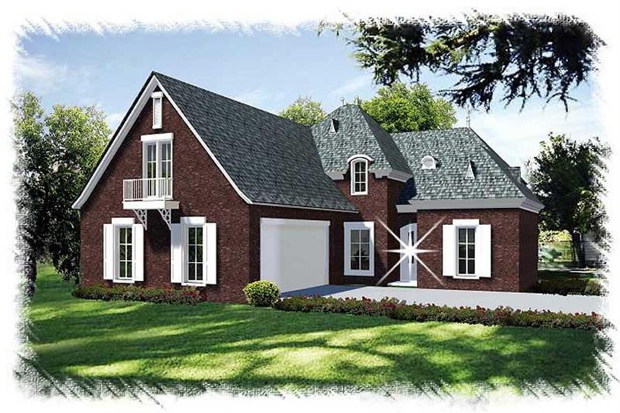 4-Bedroom, 2624 Sq Ft Home Plan - 113-1094 - Main Exterior