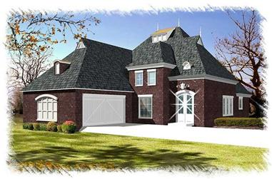 3-Bedroom, 2319 Sq Ft French Home Plan - 113-1095 - Main Exterior
