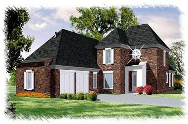 4-Bedroom, 2493 Sq Ft French Home Plan - 113-1096 - Main Exterior