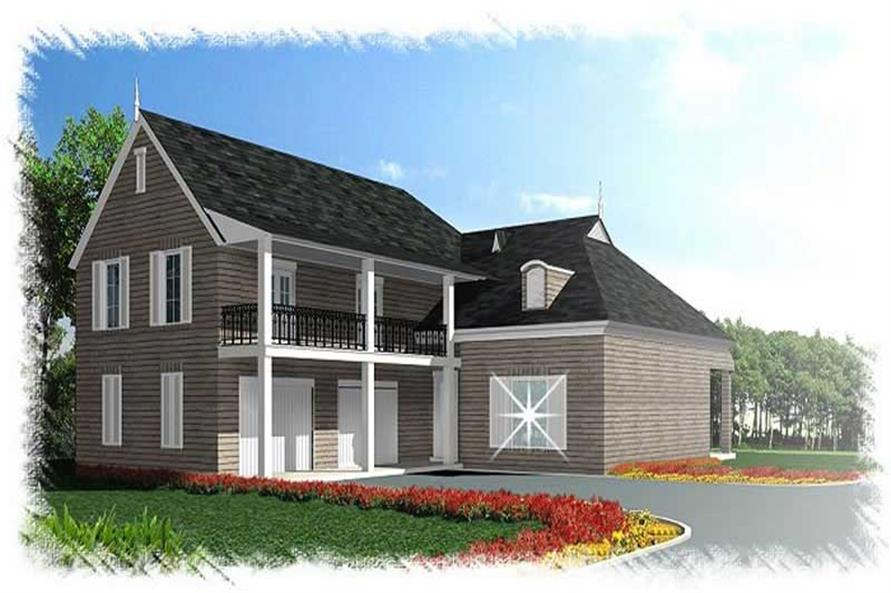4-Bedroom, 2668 Sq Ft French Home Plan - 113-1097 - Main Exterior