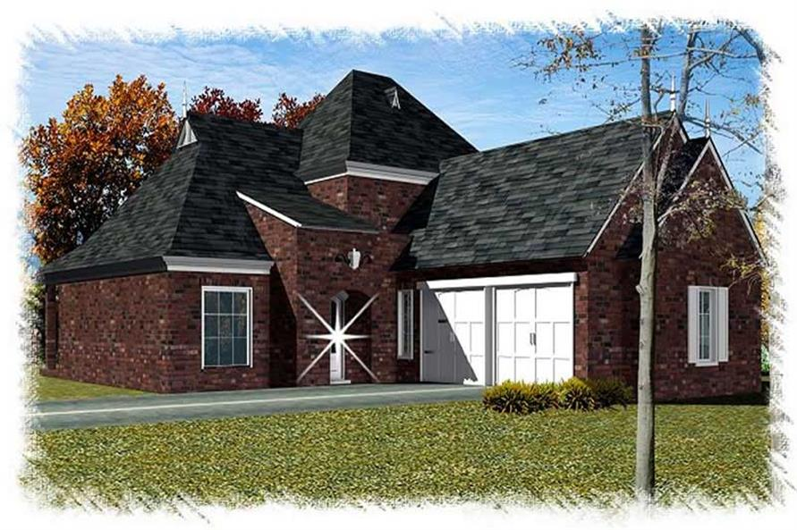 3-Bedroom, 2353 Sq Ft French Home Plan - 113-1098 - Main Exterior