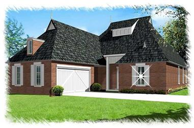 4-Bedroom, 2467 Sq Ft French Home Plan - 113-1099 - Main Exterior