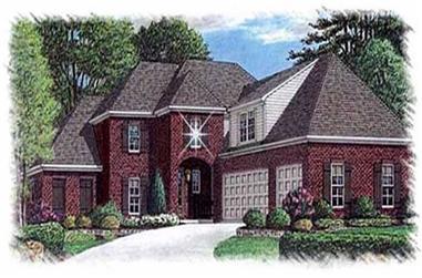 1-Bedroom, 3450 Sq Ft Luxury Home Plan - 113-1100 - Main Exterior