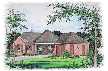 3-Bedroom, 2066 Sq Ft Ranch House Plan - 113-1101 - Front Exterior
