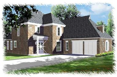 4-Bedroom, 2607 Sq Ft French Home Plan - 113-1102 - Main Exterior