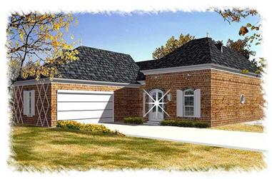 3-Bedroom, 2208 Sq Ft French Home Plan - 113-1103 - Main Exterior