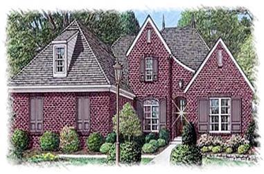 4-Bedroom, 3388 Sq Ft Home Plan - 113-1104 - Main Exterior