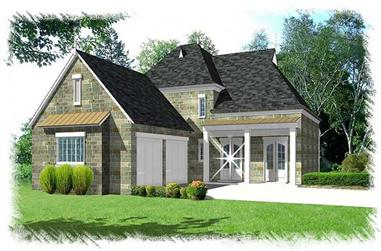 3-Bedroom, 2496 Sq Ft French Home Plan - 113-1105 - Main Exterior