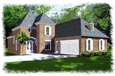 3-Bedroom, 2651 Sq Ft French Home Plan - 113-1106 - Main Exterior