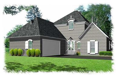 4-Bedroom, 2628 Sq Ft French Home Plan - 113-1107 - Main Exterior