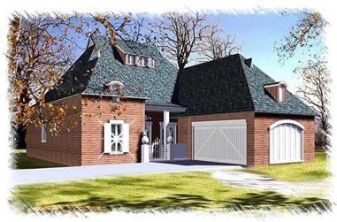 3-Bedroom, 2290 Sq Ft Home Plan - 113-1109 - Main Exterior