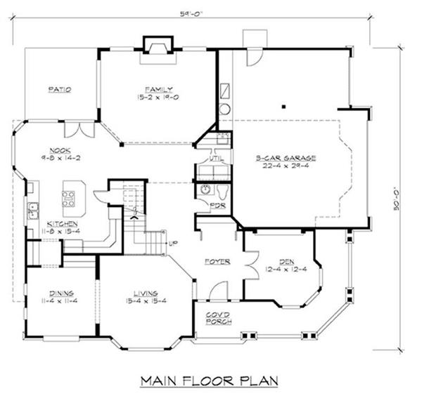 House Plan CD-M3130A3S-0 Main Floor Plan