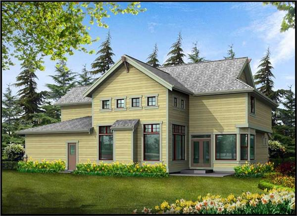 Home Plan Rear Elevation