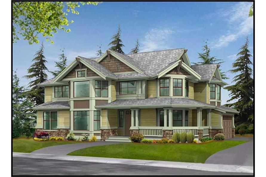 Home Plan 3D Image of this 3-Bedroom,3130 Sq Ft Plan -115-1000