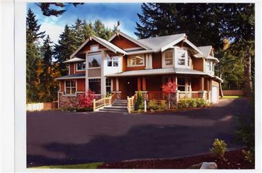 3-Bedroom, 3130 Sq Ft Craftsman House Plan - 115-1000 - Front Exterior