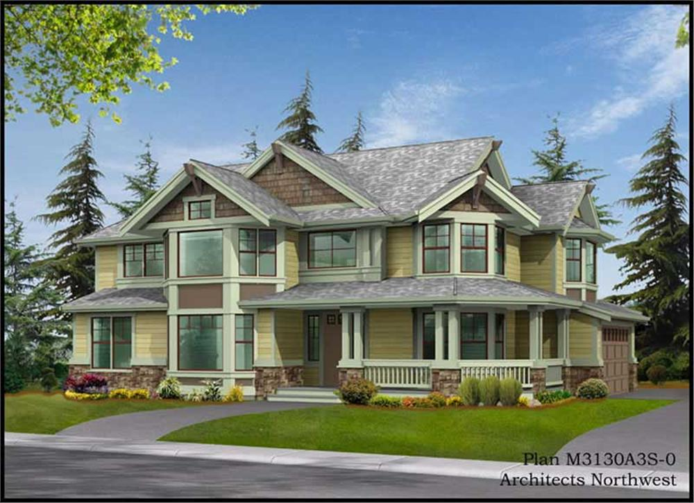 House Plan CD-M3130A3S-0 Front Elevation