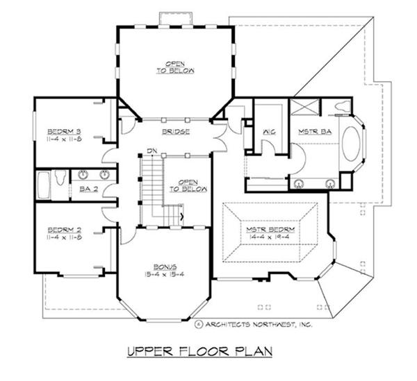 House Plan CD-M3130A3S-0 Second Floor Plan