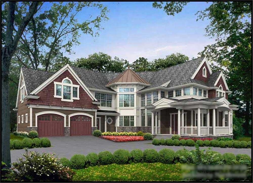 Front elevation of Country home (ThePlanCollection: House Plan #115-1001)