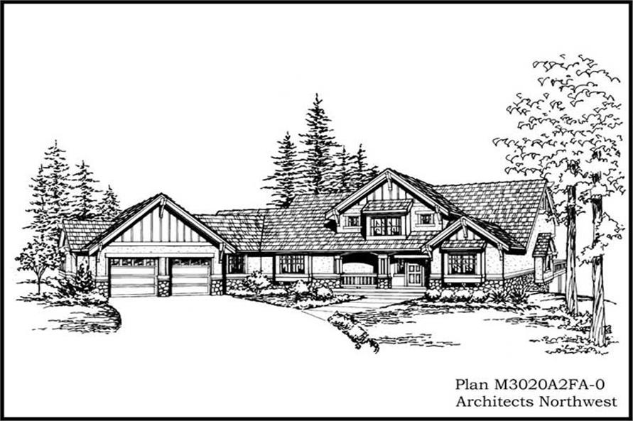 3-Bedroom, 3020 Sq Ft Craftsman House Plan - 115-1004 - Front Exterior