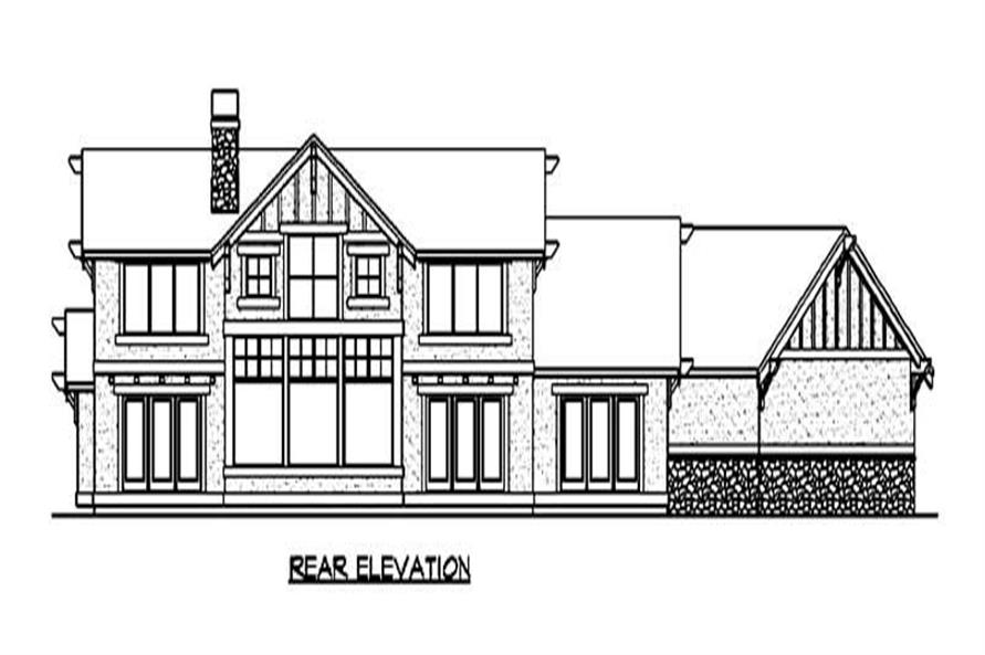 Home Plan Rear Elevation of this 3-Bedroom,3020 Sq Ft Plan -115-1004