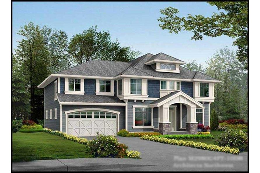 115-1006: Home Plan Rendering - Front