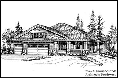 5-Bedroom, 4150 Sq Ft Country Home Plan - 115-1008 - Main Exterior