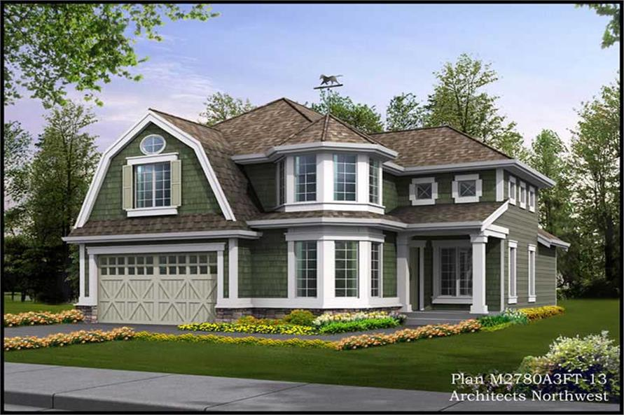 3-Bedroom, 3181 Sq Ft Ranch House Plan - 115-1009 - Front Exterior