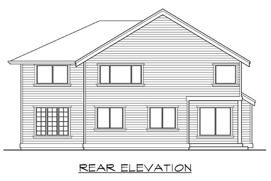 Home Plan Rear Elevation of this 3-Bedroom,3181 Sq Ft Plan -115-1009