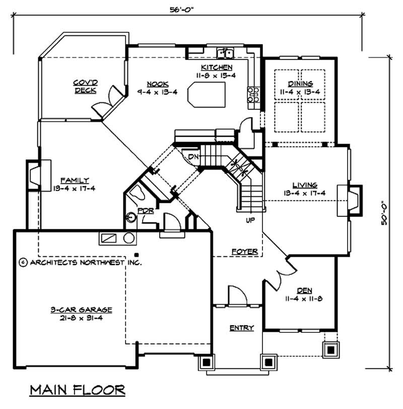 Craftsman traditional home with 3 bedrms 2750 sq ft for 1010 family plan