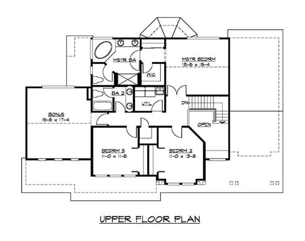 Large images for house plan 115 1014 for Second floor design plans