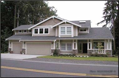 3-Bedroom, 2535 Sq Ft Ranch Home Plan - 115-1014 - Main Exterior