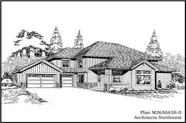 3-Bedroom, 2650 Sq Ft Ranch Home Plan - 115-1015 - Main Exterior