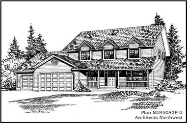 4-Bedroom, 2450 Sq Ft Cape Cod House Plan - 115-1018 - Front Exterior