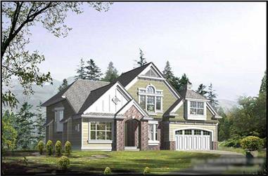 5-Bedroom, 3395 Sq Ft Craftsman House Plan - 115-1020 - Front Exterior