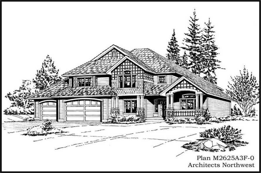 Home Plan Rendering of this 4-Bedroom,2625 Sq Ft Plan -115-1021
