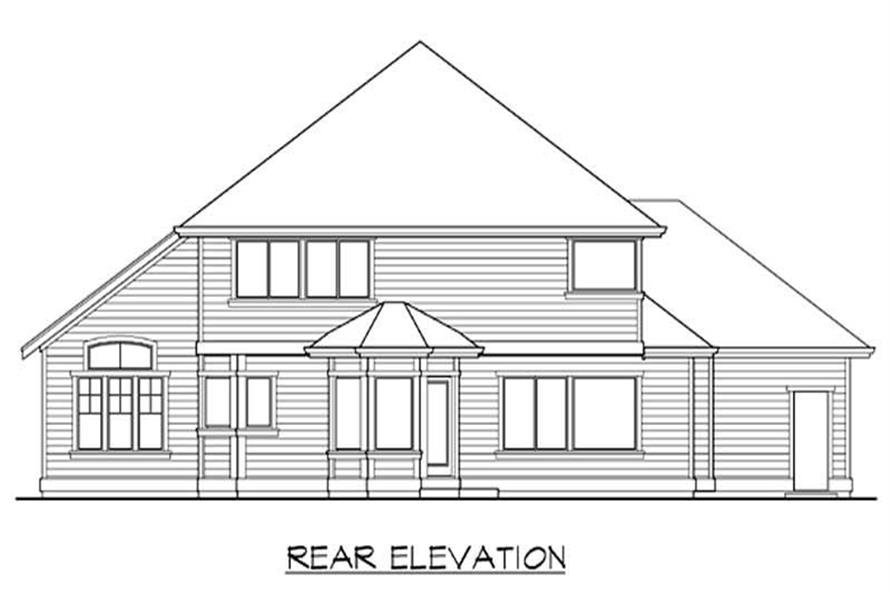 Home Plan Rear Elevation of this 4-Bedroom,2625 Sq Ft Plan -115-1021