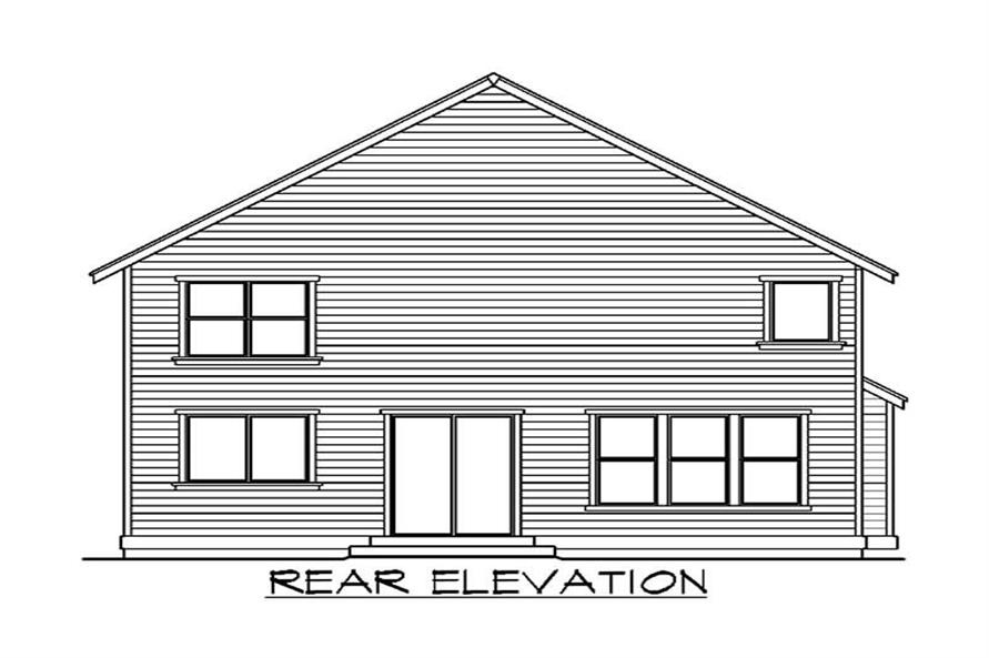 Home Plan Rear Elevation of this 4-Bedroom,2965 Sq Ft Plan -115-1023