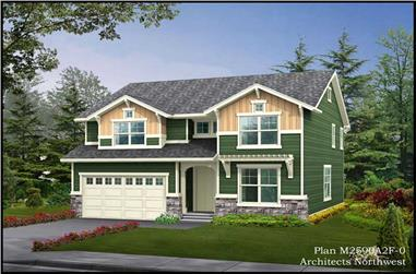 4-Bedroom, 2590 Sq Ft Multi-Level Home Plan - 115-1025 - Main Exterior
