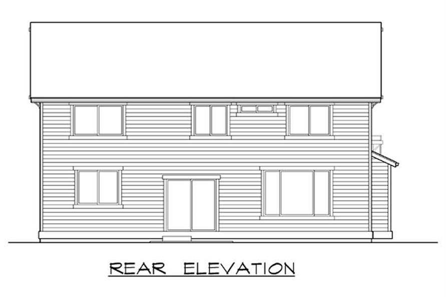 Home Plan Rear Elevation of this 4-Bedroom,2590 Sq Ft Plan -115-1025