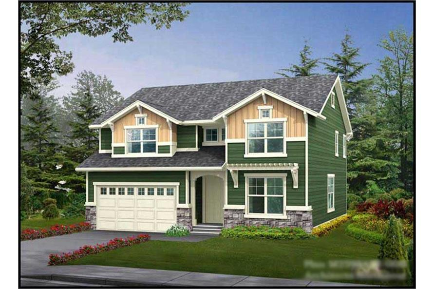 5-Bedroom, 3716 Sq Ft Multi-Level Home Plan - 115-1026 - Main Exterior